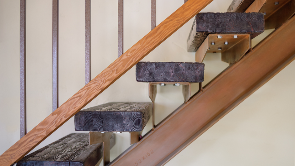 Environmentally friendly, contemporary home design - Stair Detail